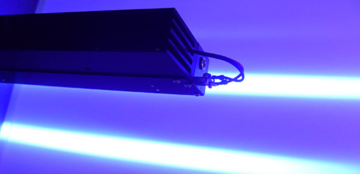 UV curing for continues applications